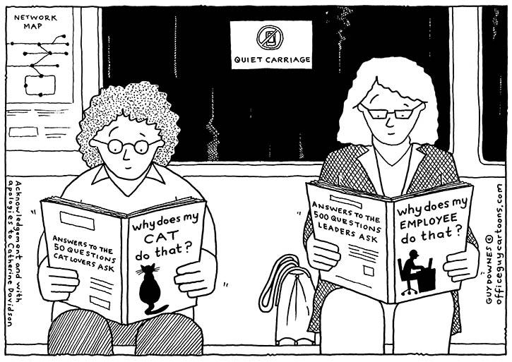 Employee behaviour cartoon