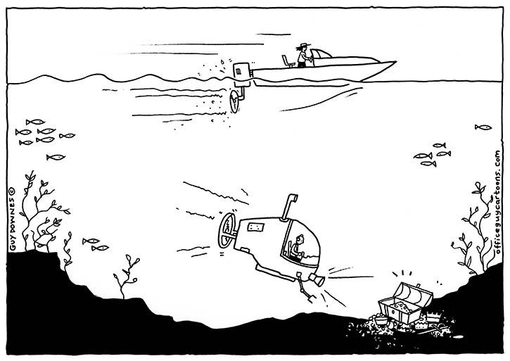 Go deep cartoon