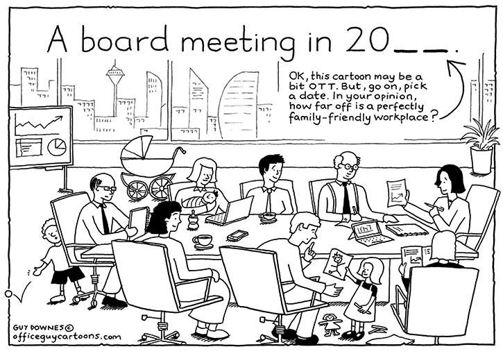 board meeting office guy cartoons