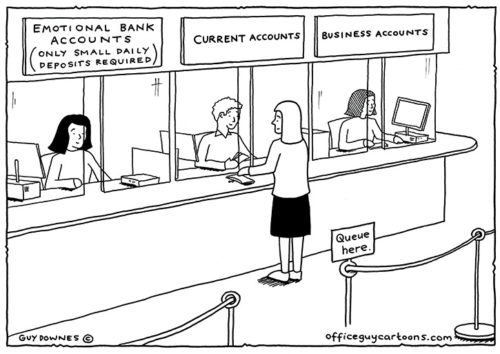 Emotional bank accounts